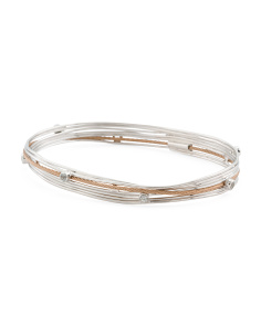 White Topaz Tango Bangle Bracelet