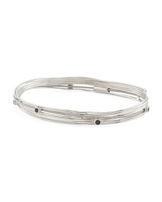 Black Spinel Tango Bangle Bracelet