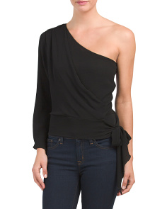 Made In USA One Shoulder Wrap Top