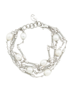 Pearl Multi Row Bracelet