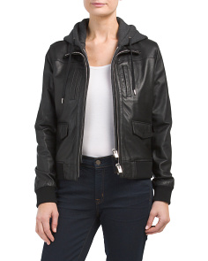 Leather And Fleece Jacket