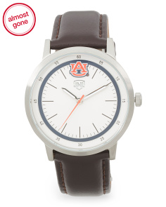 Auburn Tigers Leather Strap Watch