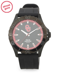 Men's Oklahoma Blackout Silicone Strap Watch