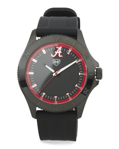 Men's Alabama Crimson Tide Blackout Silicone Strap Watch