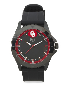 Men's Oklahoma Sooners Blackout Silicone Strap Watch