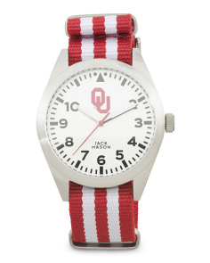 Men's Oklahoma Sooners Striped Nato Strap Watch