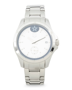 Women's Dallas Cowboys Silver Sport Watch