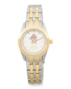 Women's Ohio State Buckeyes Two Tone Bracelet Watch