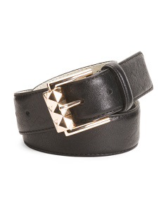 Sculpt Roller Buckle Leather Belt