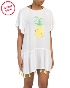 Pineapple & Tassel Cover-up Tunic