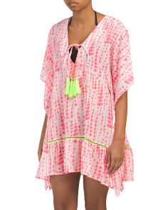 Tie Dye Tassel Cover-up Tunic