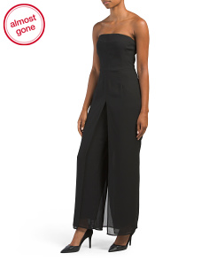 Petite Made In USA Strapless Jumpsuit