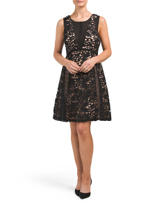 Loretta Woven Lace Fit & Flare Dress