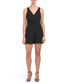 Serena Scalloped Edge Romper