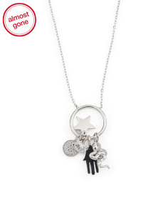 Sterling Silver Multi Charm Necklace