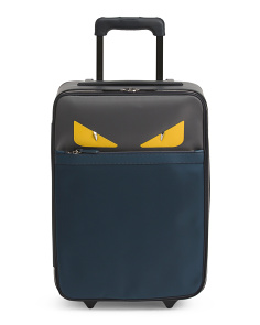 Made In Italy Leather 20in Carry-on Trolley