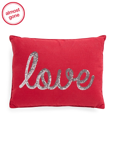 14x18 Sequin Love Pillow