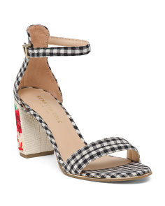 One Band Block Heel Sandals