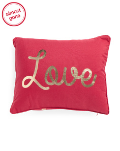 14x18 Love Reversible Pillow