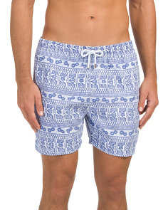 Abstract Luxury Printed Swim Shorts
