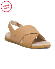 Lima Cross Band Leather Sandals