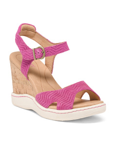 Puno Leather Wedge Sandals