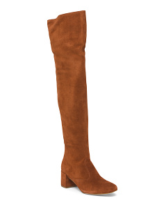 Made In Brazil Over The Knee Suede Boots