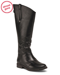 Made In Brazil Leather Wide Calf High Shaft Boots