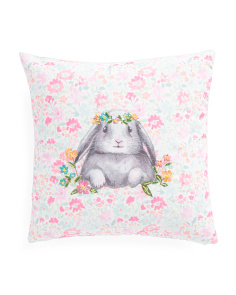 16x16 Easter Watercolor Bunny Pillow