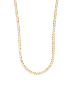 Made In Italy 14k Gold Cubic Zirconia Rope Necklace