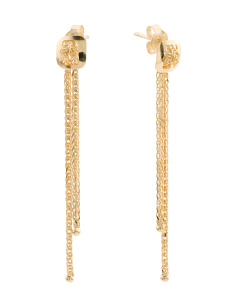 Made In Italy 14k Gold Tassel Earrings