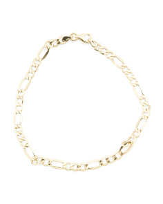Made In Italy 14k Gold Figaro Bracelet