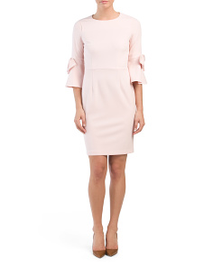 Sheath Dress With Bow Detail