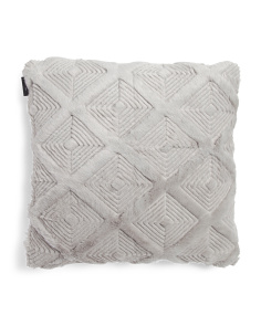 20x20 Triangle Stitch Faux Fur Pillow