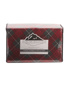 Plaid Turkish Flannel Sheet Set