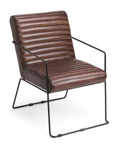 Made In India Leather And Iron Chair