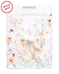 Made In India 16x80 Floral Bunny Runner