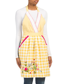 Made In India Bunny And Flower Apron