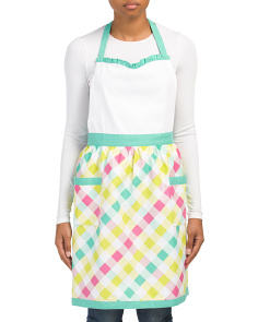 Made In India Gingham Apron