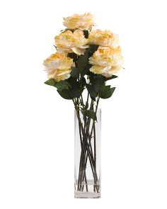 33in Tall Faux Peony Arrangment