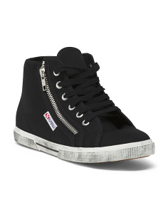Coated Hightop Sneakers