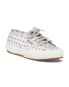 Gingham Canvas Sneakers