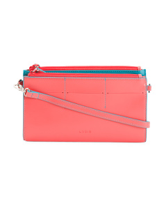 Audrey Fairen Clutch Leather Crossbody