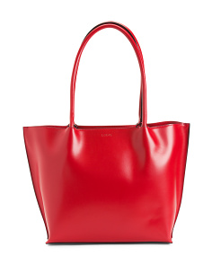 Audrey Ebony Leather Tote
