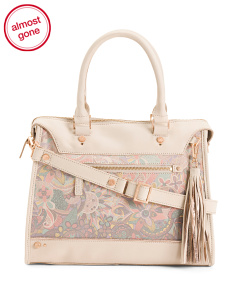 Printed Leather Satchel