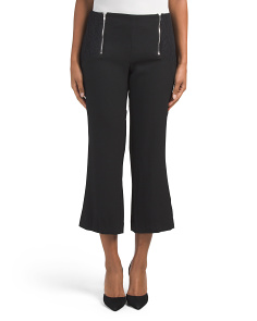 Juniors Double Zip Crop Pants