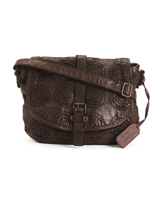 Made In Italy Large Leather Crossbody