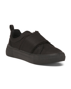 Satin Casual Slip On Sneakers
