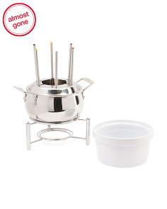 3qt Stainless Steel Fondue Pot With Ceramic Insert