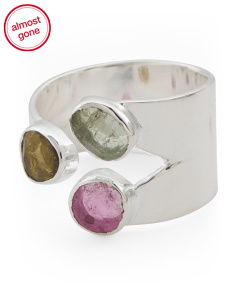 Handmade In India Sterling Silver Tourmaline Moira Ring